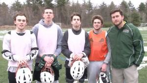 (LtoR: Midfielders; Conor Murphy, Jimmy Adams, Attacker; Cam Finlayson, Ryan Bennon - Goalie, Head Coach; Dan Norton)