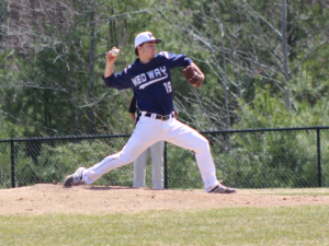 Seth Coppinger struck out 6 hitters and pitched 6 innings giving up 3 hits and 1 run in Medway win.