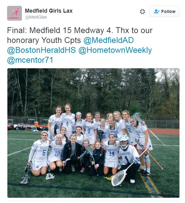 Medfield Girls Lacrosse 5/3/16