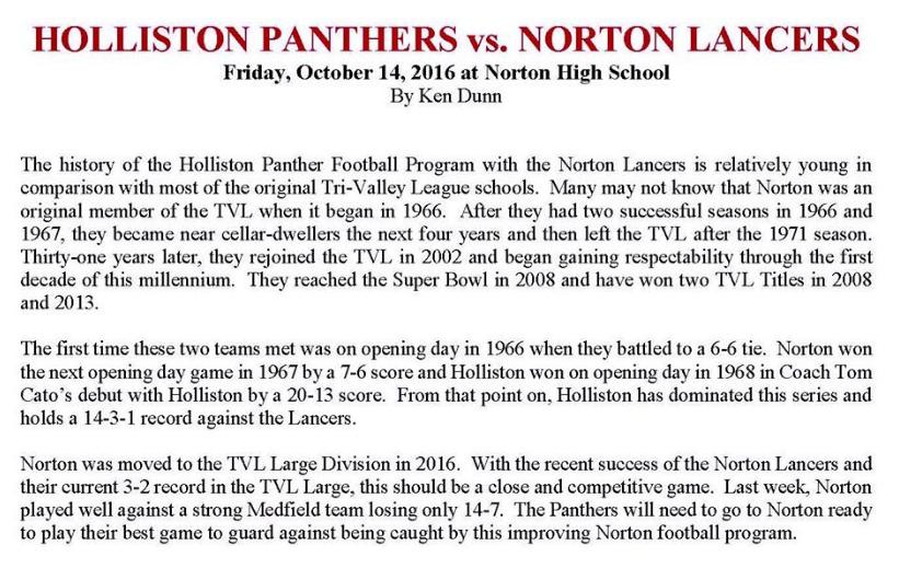 Holliston-Norton Article 101416